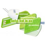 Швабра Бытовая БК+ С тремя насадками(зеленая)