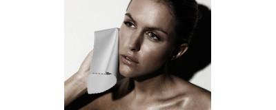 Салфетка косметическая Белый кот 20x20